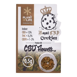 POL Susz konopny kwiat 12% CBD Royal Cookies 0,5g