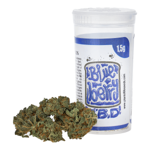 POL Susz konopny kwiat 4% CBD Blueberry 1,5g